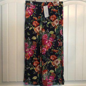 Amisu New Yorker tropical crop palazzo pants; 8